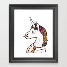 Doctor Unicorn Framed Art Print
