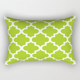 Arabesque Architecture Pattern In Lime Rectangular Pillow