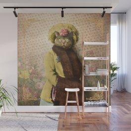 Lady Vanderkat with Roses Wall Mural