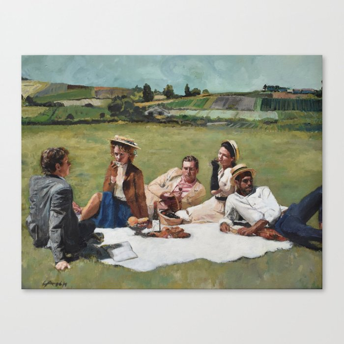 A Sunday in August Canvas Print