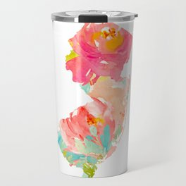 new jersey floral state map Travel Mug