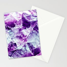 Ultra violet crystal detail Stationery Cards
