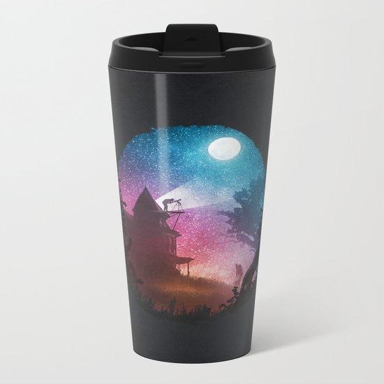 Young Astronomer Metal Travel Mug