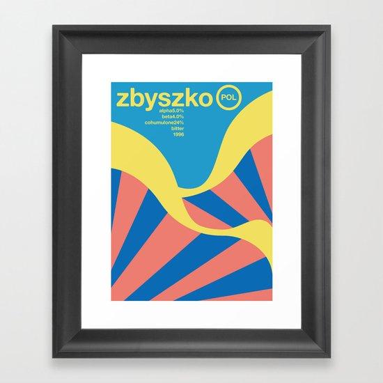 zbyszko single hop Framed Art Print