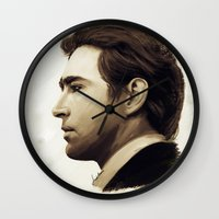 lee pace Wall Clocks featuring Lee Pace by LindaMarieAnson