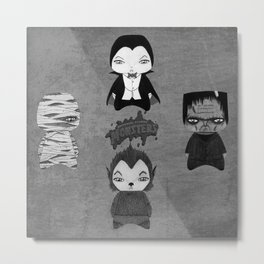A Boy - Universal Monsters Black & White édition Metal Print
