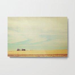 Farm Polaroid Metal Print
