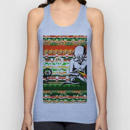 Ghandi and his Spinning Wheel Unisex Tank Top