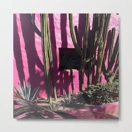 Cactus and Crazy Pink Metal Print