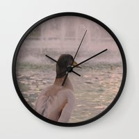 duck Wall Clocks featuring Duck by LemonThree