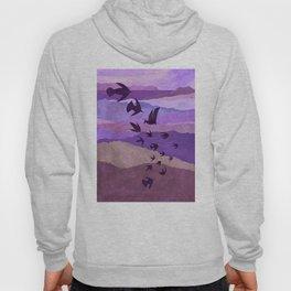 Purple Mountains Birds Take Flight Hoody