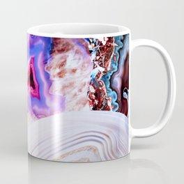 Agate, a vivid Metamorphic rock on Fire Coffee Mug