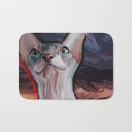 Evil cat. Bath Mat