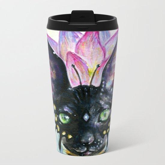 Cat Goddess Metal Travel Mug