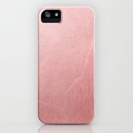 Rose Gold Pink iPhone Case