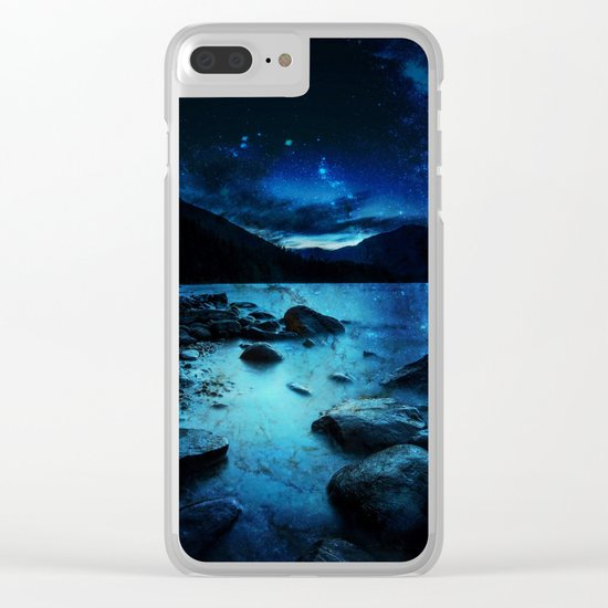 Magical Mountain Lake Clear iPhone Case