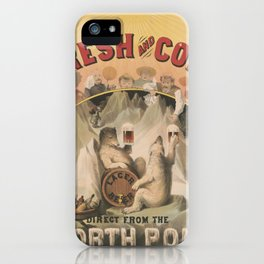North Pole Fresh and Cold Lager Beer iPhone Case