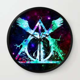 Shine Of Deathly Hallows Wall Clock