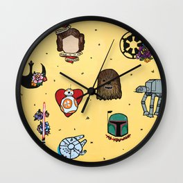 Star Fleet Flash Sheet Wall Clock