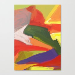Desert Island Daydreaming Abstract Landscape Canvas Print