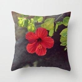 Red little flower VI Throw Pillow