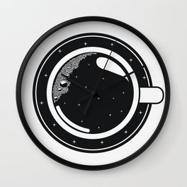 Cup of coffee with stars Wall Clock