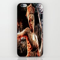 silent hill iPhone & iPod Skins featuring Death By Medicine Silent Hill Nurses by Joe Misrasi