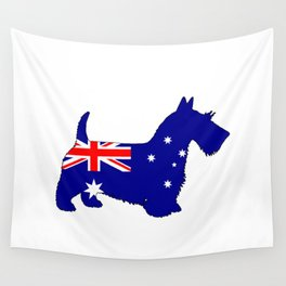 Australian Flag - Scottish Terrier Wall Tapestry