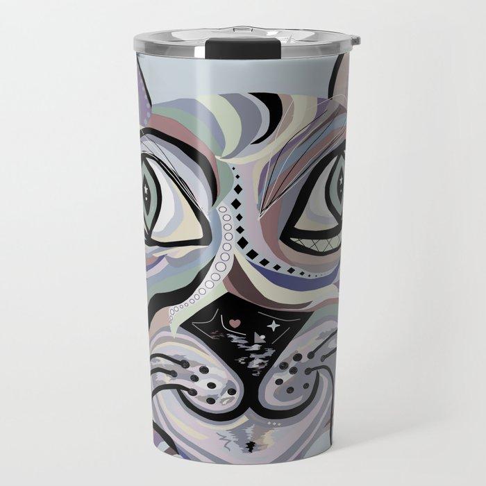Denim Cat Travel Mug