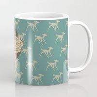 bambi Mugs featuring Bambi by Shirley Hernandez