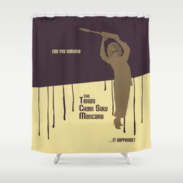 Can You Survive The Texas Chain Saw Mascara Shower Curtain
