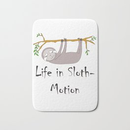 Life in Sloth-Motion Sloth on a Branch Bath Mat