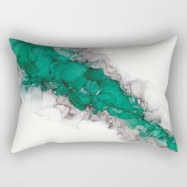 Study in Green Rectangular Pillow