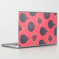 karen hallion Laptop & iPad Skins featuring Fig pattern by Georgiana Paraschiv