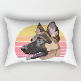 German Shepherd drawing Rectangular Pillow
