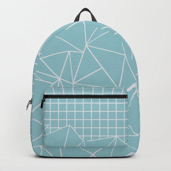 Ab Outline Grid Salty Backpack