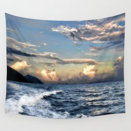 Sunset Wake Wall Tapestry