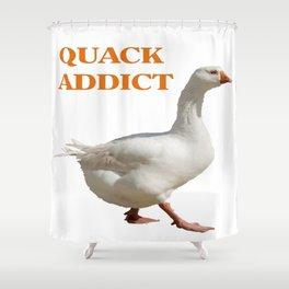 Strolling Duck Quack Addict Shower Curtain