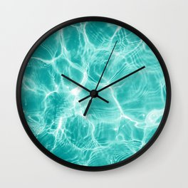 Pool Dream #1 #water #decor #art #society6 Wall Clock