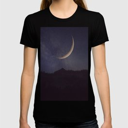 Moon and stars landscape T-shirt