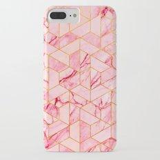 Pink Marble Hexagonal Pattern iPhone 7 Plus Slim Case