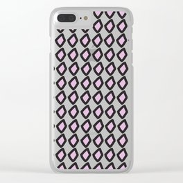 Digital Vector Graphic Black & Violet Diamonds Clear iPhone Case