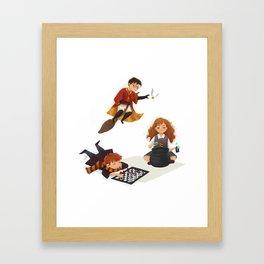 The Golden Trio Fan Art Framed Art Print