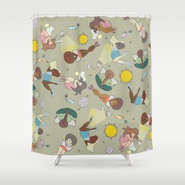 For the love of Books 02 Shower Curtain