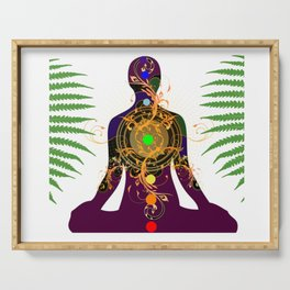 Yoga,meditation,spiritual design Serving Tray