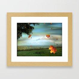 Windy Day Blagdon. Framed Art Print