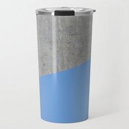 Concrete and Little Boy Blue Color Travel Mug