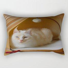 My cat is my zen master Rectangular Pillow