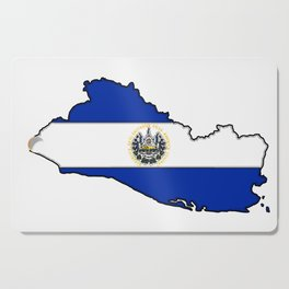 El Salvador Map with Salvadoran Flag Cutting Board