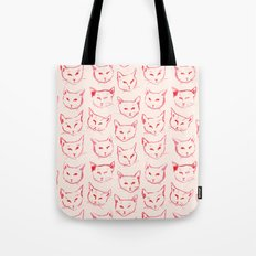 Red Cat Tote Bag